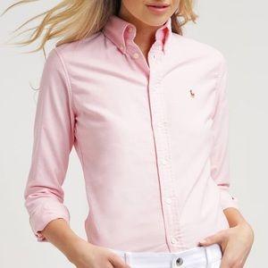 RALPH LAUREN Pink Slim Fit Oxford Button Shirt 6